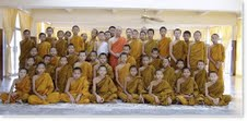 Buddhist students practice Transcendental Meditation
