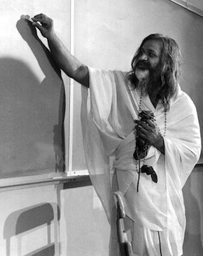 Maharishi lecturing- a rare photo