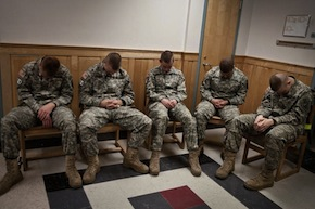 troops practice transcendental meditation